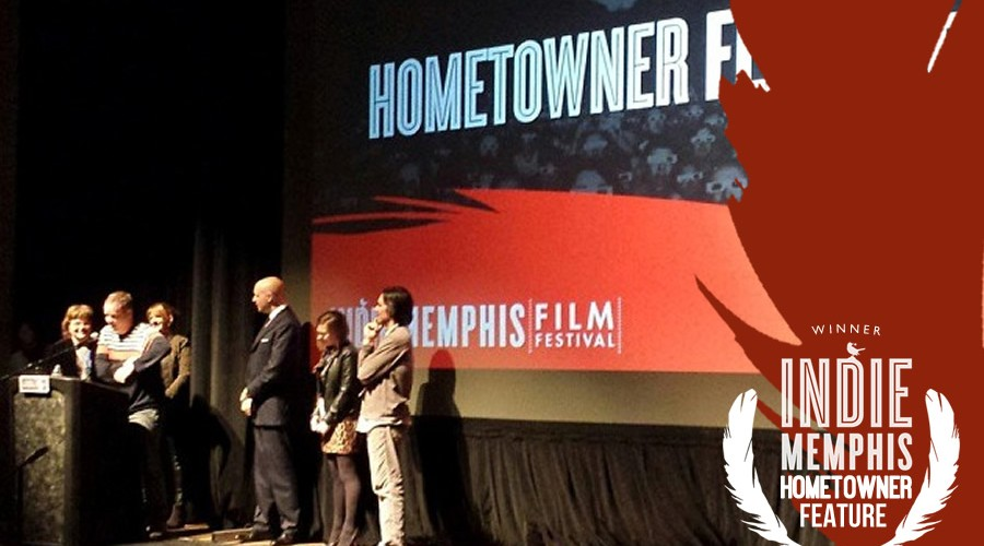 "Drew Smith accepts the Indie Memphis Hometowner for ""Being Awesome"""